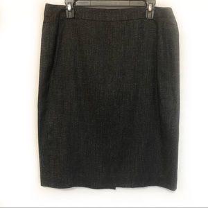 Ann Taylor Wool Blend Pencil Skirt   Size 12
